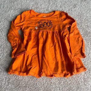 🔥BOGO🔥 Boo Halloween Orange Long Sleeve Dress 4T